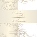 Elegant wedding invitation card classic retro vector Royalty Free Stock Photo