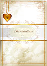 Elegant wedding invitation or valentine's day card in vintage st Stock Photo