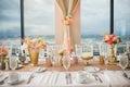 Wedding Reception Centerpieces Royalty Free Stock Photo