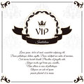 Elegant white VIP card. It is executed in the Victorian style with a leaf ornament. Suitable for the design of invitations.