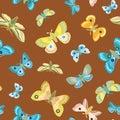 Elegant wildlife moth butterfly pattern.