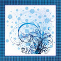 Elegant winter tree card vector illustration Stock Photography