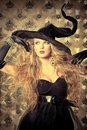 Elegant witch Stock Photo