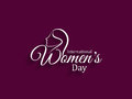 Elegant womens day card design. Stock Photos