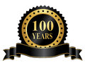 Elegant years anniversary stamp with ribbon year seal Royalty Free Stock Photo