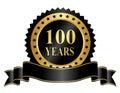 Elegantný 100 roky výročie pečiatka stuha