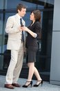 Elegant young business couple Royalty Free Stock Images