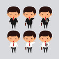 Elegant young business man vector illustration. Royalty Free Stock Photo