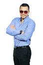 Elegant young handsome man in sunglasses Royalty Free Stock Image