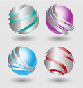 Elehant metallic balls with silver embellishment for creative design Stock Image