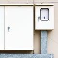 Elektrische doos Stock Foto's