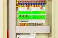 Elektropaneellijn controles en schakelaars veiligheidsconcept Royalty-vrije Stock Foto