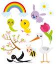 Elementów sezonu wiosna Zdjęcia Stock