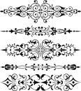 Element for design, corner flower, vector Royalty Free Stock Photo