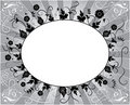 Element for design, flower frame, vector Royalty Free Stock Photo