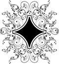 Element for design, frame flower, vector Royalty Free Stock Photo