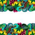 Element doodle boarder in vivid colors.