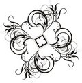 Element of floral ornament for design Royalty Free Stock Photo