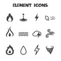 Element icons mono vector symbols Royalty Free Stock Image