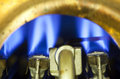 Element of ignition of the gas water heater Royalty Free Stock Photo