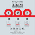 Element for infographi template geometric figure circle for web