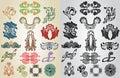 Element pattern art nouveau collection Stock Image