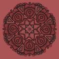 Element seamless pattern. Hand drawn flower mandala. Ethnic ornament.