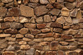Element of a stone laying house wall revetted with natural Stock Image