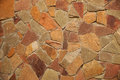 Element of a stone laying house wall revetted with natural Royalty Free Stock Photo