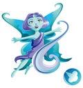 Elemental of air series – spirit cartoon style vector illustration Royalty Free Stock Photos