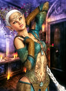 Elemental elf a d rendered image of an Royalty Free Stock Images