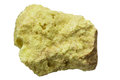 Elemental sulfur native rock isolated on white background Stock Photo