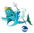 Elemental of water series – spirit cartoon style vector illustration Stock Photo