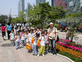 An elementary class visiting seoul with the teacher location seoul south korea date may Royalty Free Stock Photos