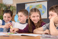 Elementary school pupils Stock Photography