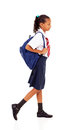 Elementary student walking Stock Photo
