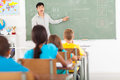 Elementary teaching chinese school teacher language in classroom Stock Photography