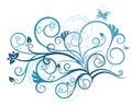 Elemento di disegno floreale del turchese Fotografie Stock