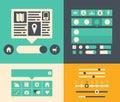 Elementos da interface de utilizador do web site Fotografia de Stock Royalty Free