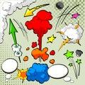 Elementos del diseño del cómic Fotos de archivo
