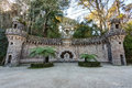 Elements of architectural structures in quinta regaleira sintra portugal Stock Image