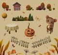 Elements For Autumn Illustration