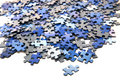 Elements of a blue puzzle Royalty Free Stock Photo