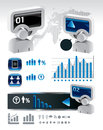 Elements of business and finance infographics Stock Image