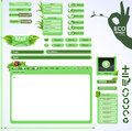 Elements for eco friendly web design. Green set Royalty Free Stock Photos