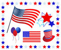 Elements and icons American patriotism Stock Image