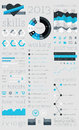 Elements of Infographics with buttons Royalty Free Stock Images