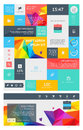 Elements of infographics with buttons and menus eps Royalty Free Stock Photo