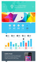 Elements of infographics with buttons and menus eps Royalty Free Stock Images