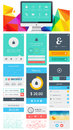 Elements of infographics with buttons and menus eps Stock Images